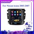 Автомобильный мультимедийный DVD-плеер с HD-экраном для Nissan teana 2003, 2004, 2005, 2006, 2007, автомобильное стерео радио в стиле Telsa, GPS-навигация