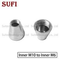 2 stücke M10 * 1 inneren zähne M6 * 1 inneren zähne konische kupfer teile Inner m10 zu Innere m6 adapter schraube für DIY beleuchtung zubehör-in Lampenrohr aus Licht & Beleuchtung bei