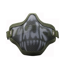 Airsoft face masks Tactica l Steel Metal Mesh Half Face Mask Protective Gears