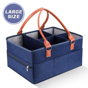 Baby Diaper Caddy Organizer Portable Holder Bag for Changing Table and Car Mummy Diaper Bag Nursery Essentials Storage bins Diaper Bags