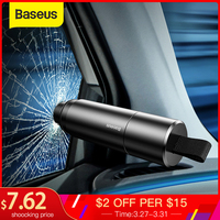 Baseus Auto Veiligheid Hamer Auto Emergency Glasbreker Window Seat Belt Cutter Levensreddende Escape Tool
