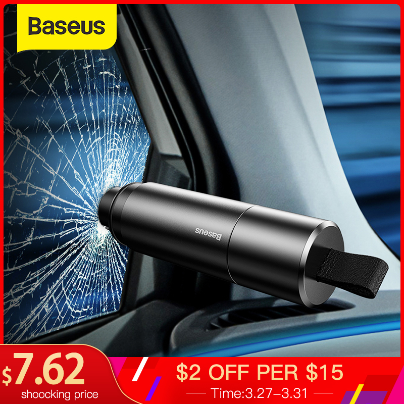 Baseus Car Safety Hammer Auto Emergency Glass Breaker Window Seat Belt Cutter Life-Saving Escape Tool