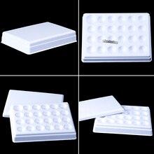 Laboratório Dental Porcelana Mistura Rega Hidratante placa Slot 24 Paleta De Cerâmica com tampa