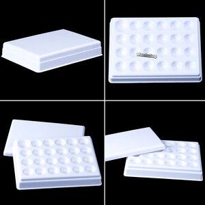 Image 1 - Plateau hydratant mélangeur en porcelaine avec couvercle, laboratoire dentaire, Palette en céramique à 24 fentes avec couvercle