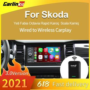 Image 1 - CarlinKit 3.0 New 2021 Wireless Carplay Adapter WIFI For SKODA Original Car With Wired To Wireless Plug &Play Carplay2air IOS 14