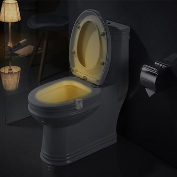 цена на Smart PIR Motion Sensor Toilet Seat Night Light 8 Colors Waterproof Backlight For Toilet Bowl LED Luminaria Lamp WC Toilet Light