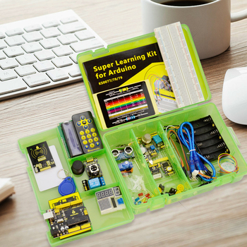 Keyestudio Super Starter kit/Learning Kit(UNO R3) for Arduino Education  with 32 Projects +User Manual+ RFID 1602+PDF(online) craft arduino projects for dummies
