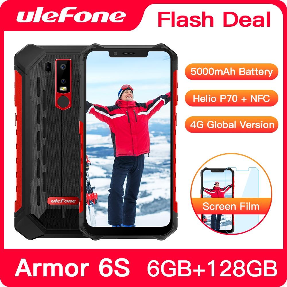 Фото. Ulefone Armor 6 телефон смартфон телефоны смартфоны  Android 8.1 водонепроницаемый IP68 NFC 6GB+128G