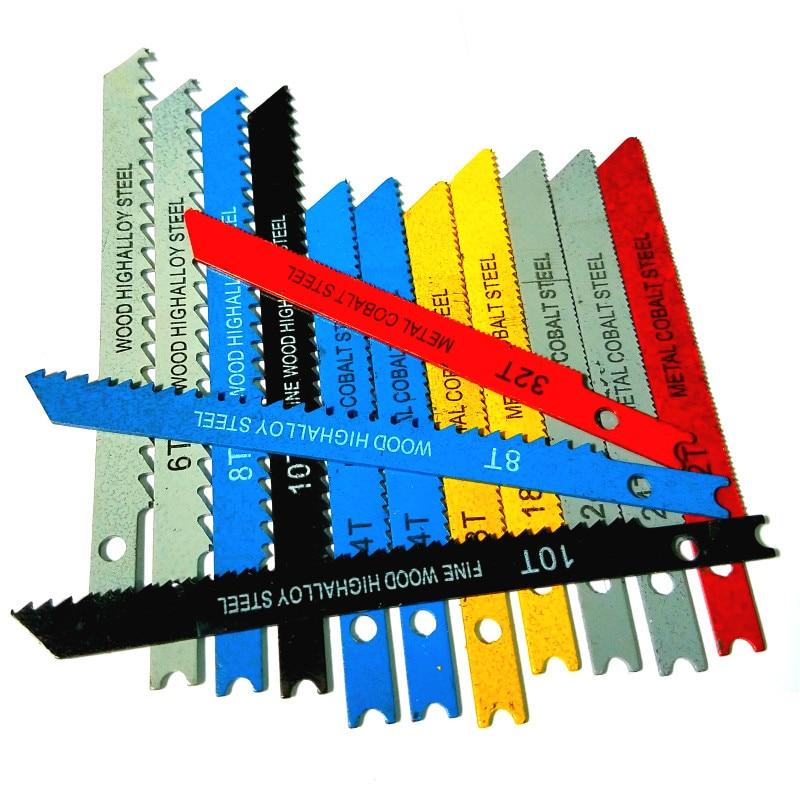 14Pcs U-shank Jig Saw Blade Set Assorted Metal Steel Jigsaw Blade Fitting For Wood Plastic Cutting Tools