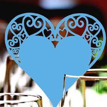 50 шт. выдолбленные Любовь Сердце стол имя место чашки карты Бумага лазерная резка свадебные Детские вечерние украшения