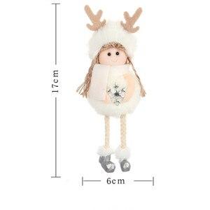 Image 4 - 2021 ใหม่ปีของขวัญล่าสุดคริสต์มาสน่ารักตุ๊กตาผ้าไหมAngelตุ๊กตาXmas Treeจี้Noelคริสต์มาสสำหรับตกแต่งบ้าน 2020 deco