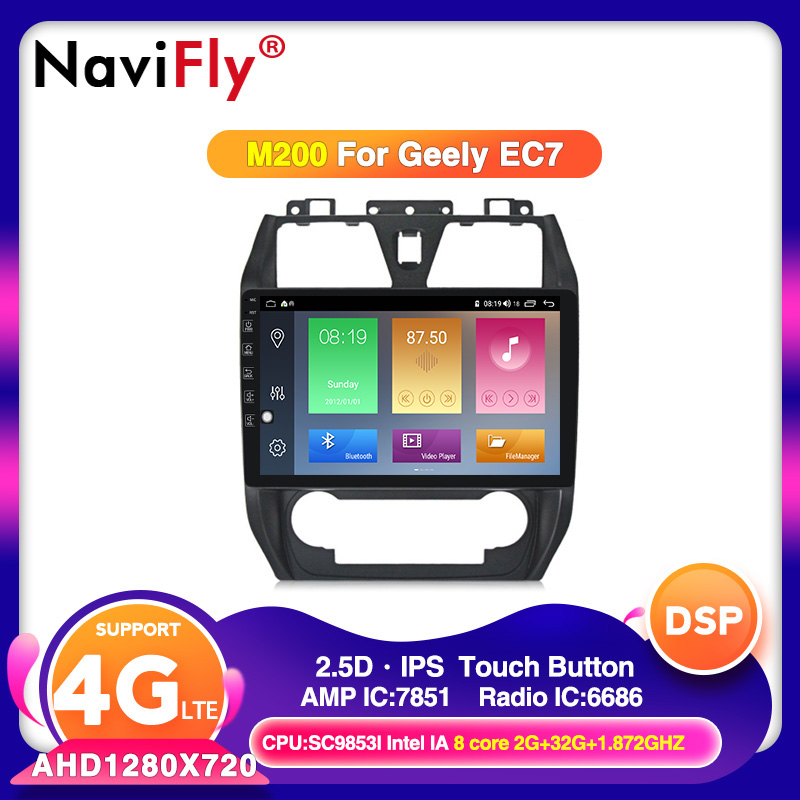 4G RAM 64G ROM Android10 Car GPS Player For Geely Emgrand EC7 2012-2013 Multimedia Navigation System With Bluetooth DSP IPS FM