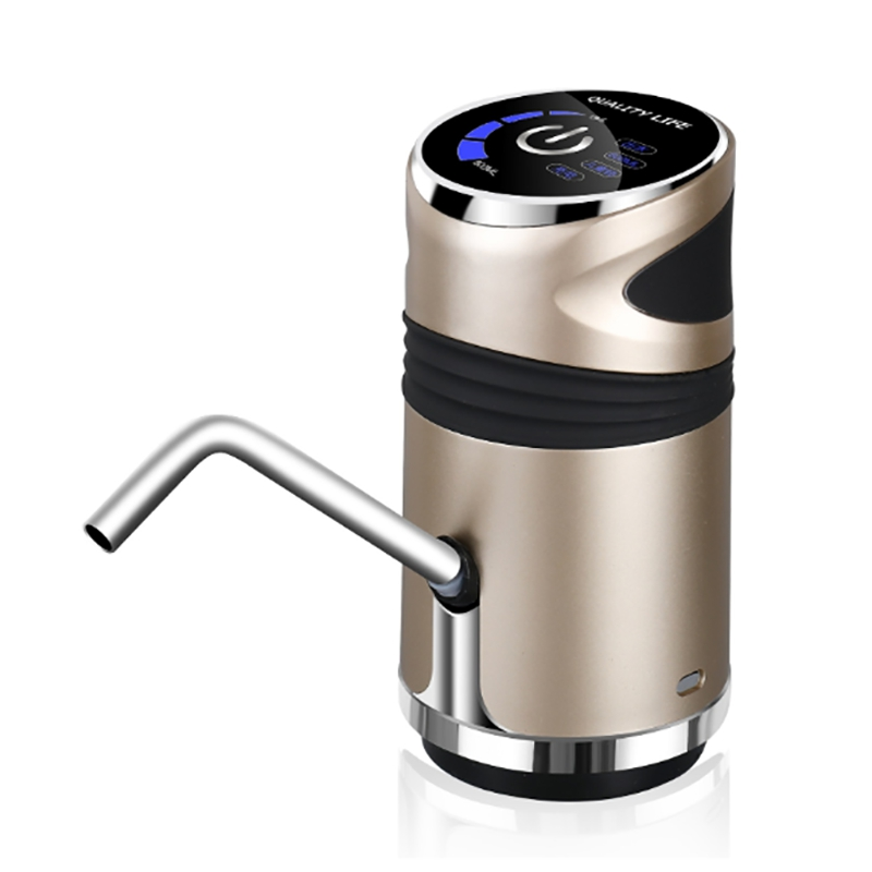 Automatic Electric Water Pump Button Dispenser Gallon Bottle Drinking Switch For Water Pumping Device Champagne Gold