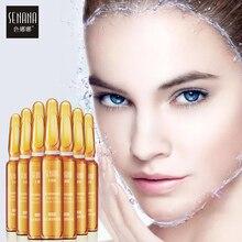 SENANA פנים סרום עור הלבנת מהות חומצה היאלורונית Nicotinamide אמפולה נגד הזדקנות אקנה לכווץ נקבוביות לחות לטיפול בעור