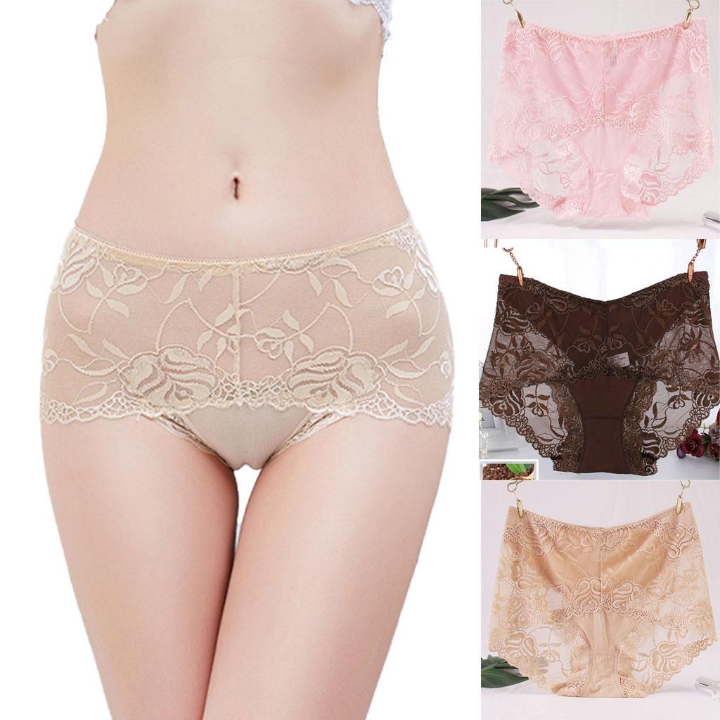 Womens Lady Sexy BriefsLace Panties Lingerie Underwear Women's Panties Comfort Underwear Skin-friendly Briefs For Women Sexy