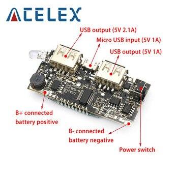 Двойной USB 18650 Зарядное устройство PCB модуль питания 5 В 1A 2.1A мобильный Банк питания аксессуары для телефона DIY LED LCD модуль платы