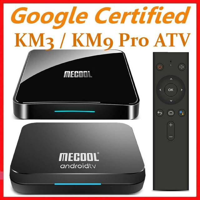 Mecool Androidtv 10.0 KM3 ATV Box Google Certified S905X2 4K Media Player 2.4G/5G WiFi KM9 Pro Android 9.0 Smart Set Top Box