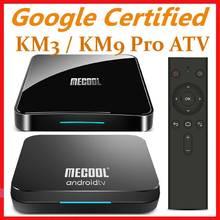 Mecool Androidtv 10.0 KM3 ATV Box Google Certified S905X2 4K odtwarzacz multimedialny 2.4G/5G WiFi KM9 Pro Android 9.0 inteligentny dekoder