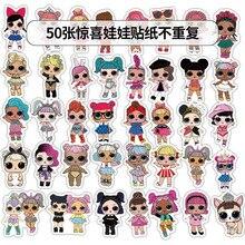 50шт/комплект наклейки LoL личности Лол куклы для детей ПВХ граффити чемодан в багажнике-гитара водонепроницаемый 4-6см