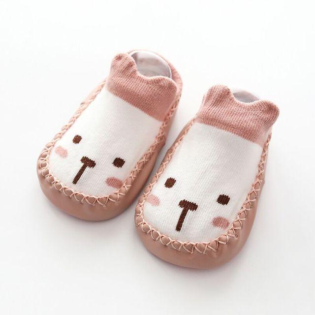 Cartoon Socks Shoes Girls Kids Baby Skin Sole Socks Infant Toddler Shoes Fur Non-slip Soft Bottom Floor Socks Crib Shoes Unisex 4