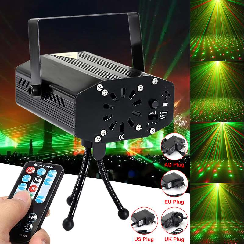 Patterns Laser Projector Light LED RG  Disco Flash Lamp For New Year Dance Floor Christmas Party Indoor Light Show