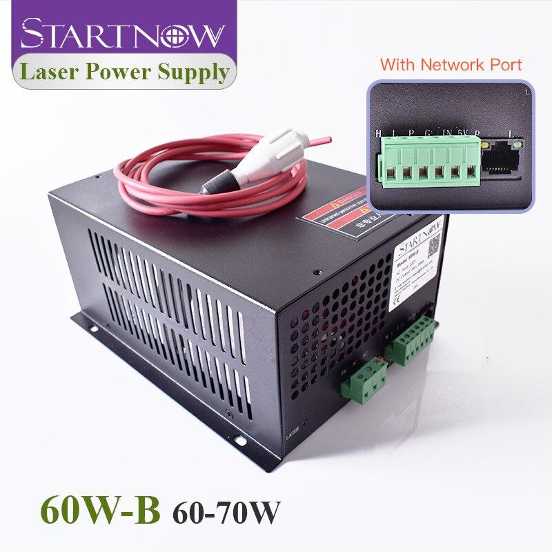 Startnow 60W-B CO2 Laser High Voltage Power Supply 60W Watt With Network Port 70W Laser Engraving Cutting Machine Accessories