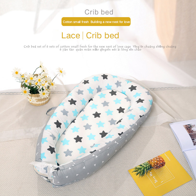 Baby Nest Bed Portable Removable And Washable Crib Travel Bed Nest Bed Crib Cotton New Crib Travel Bed For Children Infant Kids