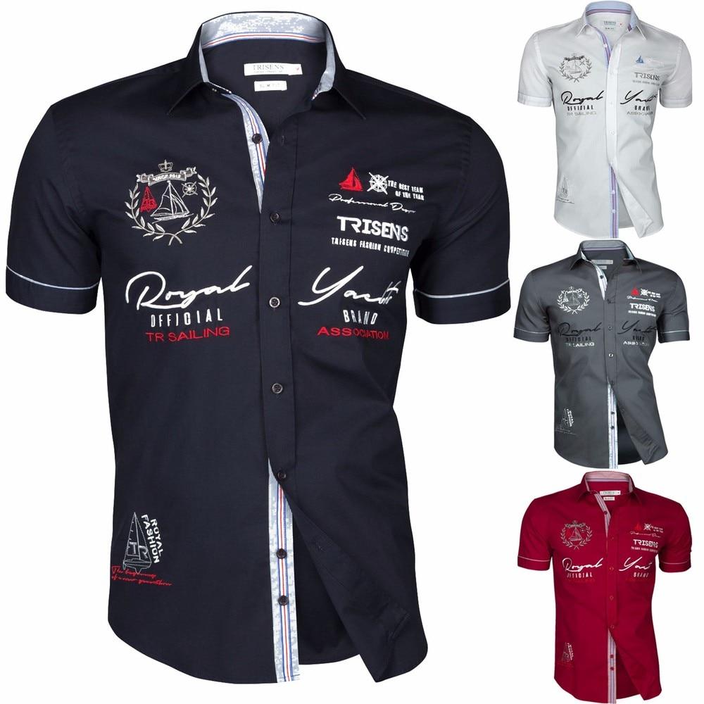 Zogaa 2020 Summer Men Casual Shirts Slim Fit Men's Casual Button Down Shirt Short Sleeve Formal Dress Shirts Men Male Clothing