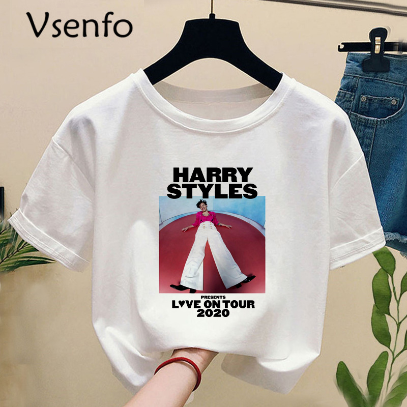Harry Style Tshirt Harajuku Summer Fine Line Love On Tour T-shirt With Print Casual O-neck Short Sleeve Women's T Shirt