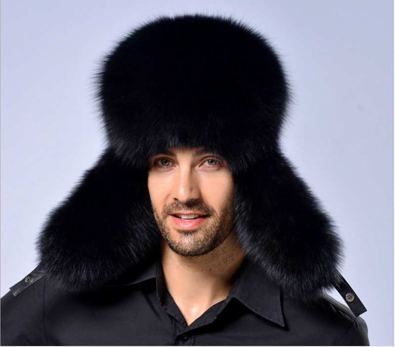 Ushanka 2020 Russian Leather Men Women Fur Faux Ski Cap Winter Warm Unisex Thermal Hat Cossack Trapper Hats