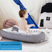 Foldable Crib Portable Baby Cots And Baby Bed Thick Cotton Breathable Baby Travel Bed Protect The Spine Bionic Baby Nest Szopka