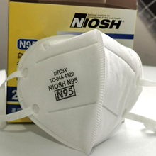 20PCS/Pack N95 Mask Disposable Mask Respirator Protective Face Mask Filtration Efficiency > 95% NIOSH Approved