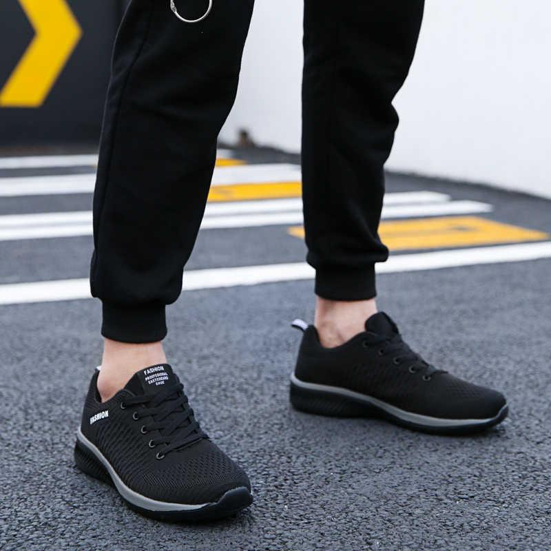 Erkek kadın örgü Sneakers nefes atletik koşu yürüyüş spor ayakkabı