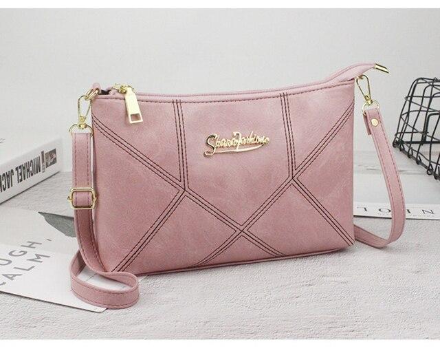 SMOOZA Retro Women Handbags Female Shoulder Crossbody Bags Ladies Artificial Leather Small Stripe Messenger Envelope Bags 5
