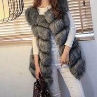 Fashion Faux Fur Coat Women Clothes Short Veste Femme Warm Fur Vest High Quality Winter Coats Women Solid Jackets Casaco Pele