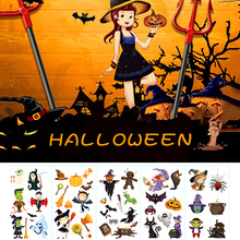 Hot Halloween Pumpkin Tattoo Stickers Ghost Witch Boys Girls Party Waterproof Temporary Body Art Fake Kids Gifts