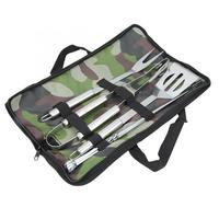 7Pcs/Set BBQ Tool Kit Fork Clip Shovel Skewer with Bag Portable Home Outdoor Camping Barbecue Accessories