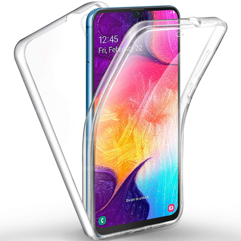 Front&Back 360 Degree Case for Huawei P30 / P30 Pro Lite Full Body Drop-Proof Protection TPU+PC Soft Clear Crystal Cover