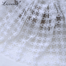 new 1yard White milk mesh yarn embroidery fabric Lace DIY fashion Dress skirt Cloth Materials