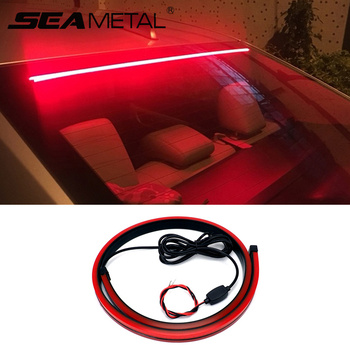 SEAMETAL Car High Brake Lights Styling LED Flexible Strip Cars Safety Warning Signal Light Auto Stop Signal Lamp Car Accessories