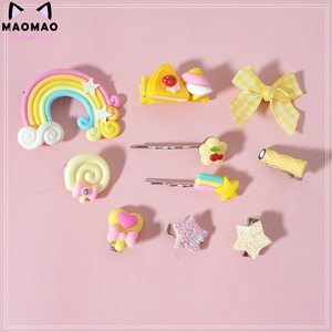 Image 3 - Lo Mother for sweet hand violet powder was yellow lolita small hairpin Hair bared sweet soft candy bear sister Meng