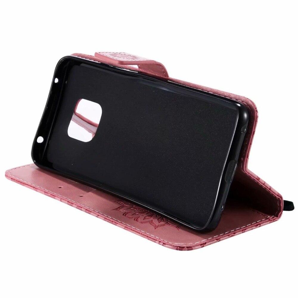 100 pcs/lot Retro sonnenblumen Geprägten leder Brieftasche fall Für Huawei Mate 20 Pro lite X fall TPU + PU abdeckung fall coque Karte Halter - 5