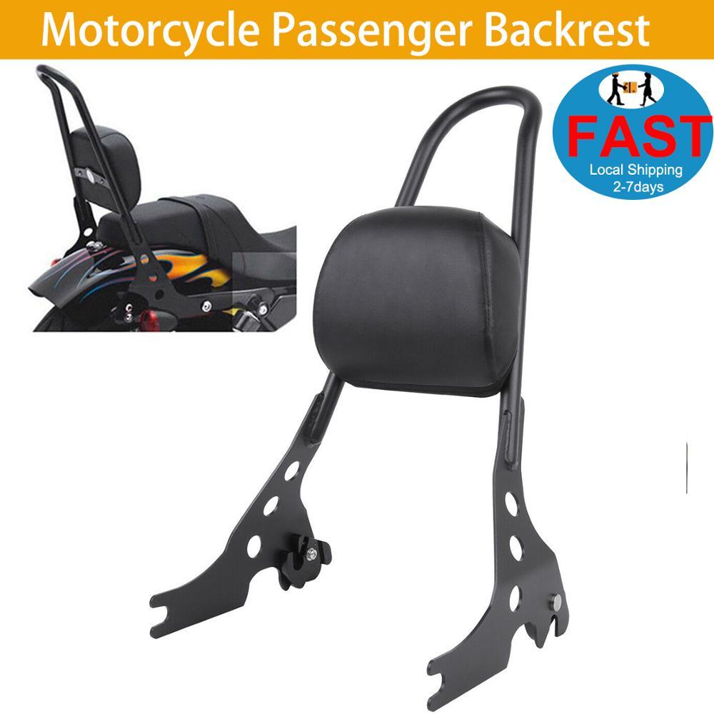 Motorcycle Rear Passenger Backrest Detachable Sissy Bar Black Fits Harley Sportster XL 883 1200