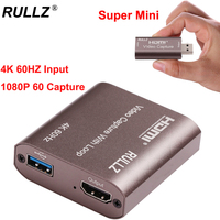 4K 60Hz USB 3.0 2.0 HDMI scheda di acquisizione Video uscita Loop TV U3 1080P 60fps piastra di registrazione del gioco scatola di Streaming Live per fotocamera PS4