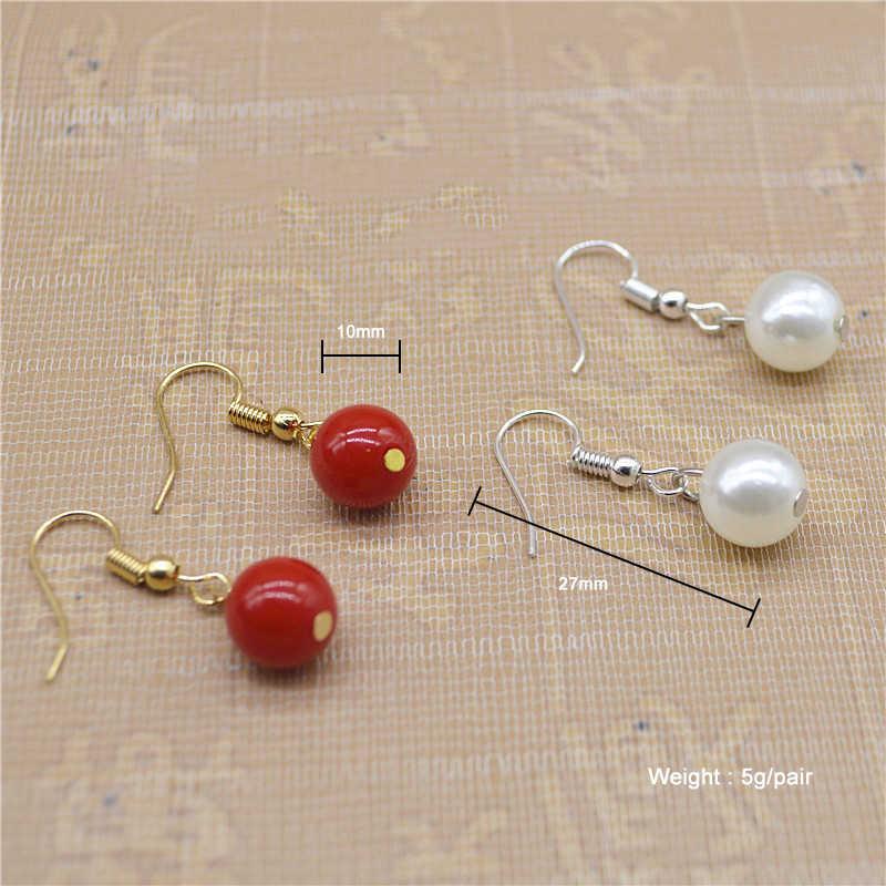 レディーシンプルなスタイル偽真珠小さなイヤリング女性婚約パーティージュエリー少女ドロップイヤリング