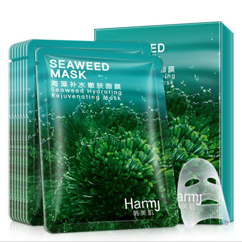 20pcs Hot Selling Sheet Mask Snail Seaweed Essence Dope Korea Skin Care Face Mask Combo Plant Extract Aloe Vera Olives Honey 4