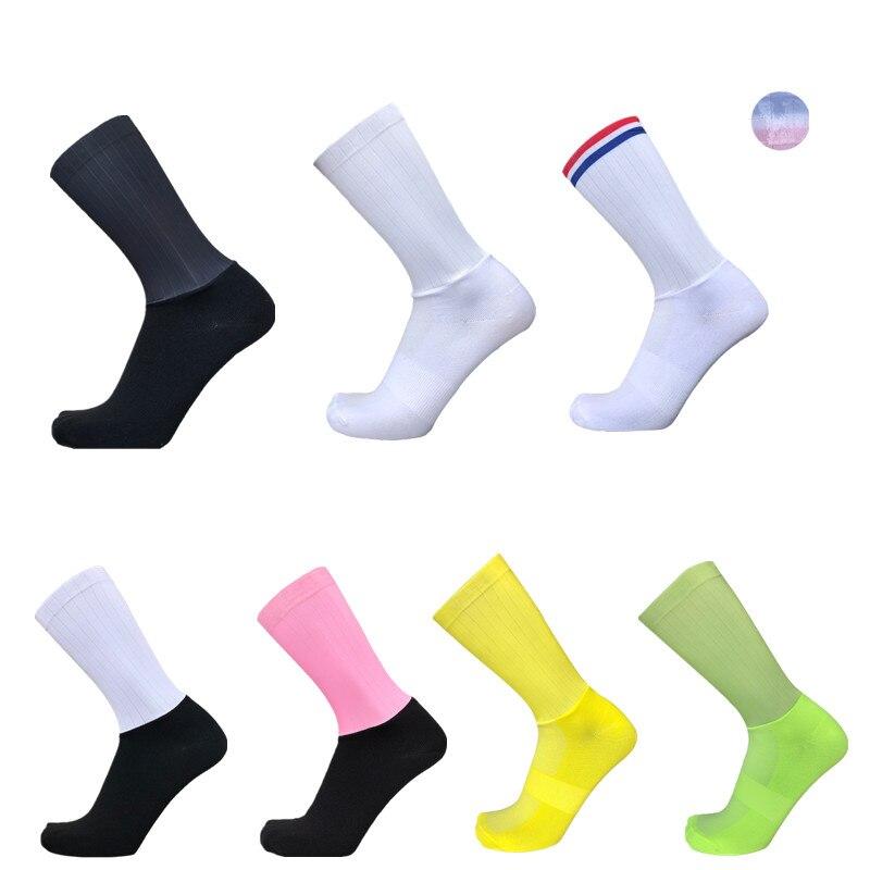 New Anti Slip Seamless Cycling Socks Road Cycling Competition Aero Socks Ntegral Moulding High-tech Bike Sock