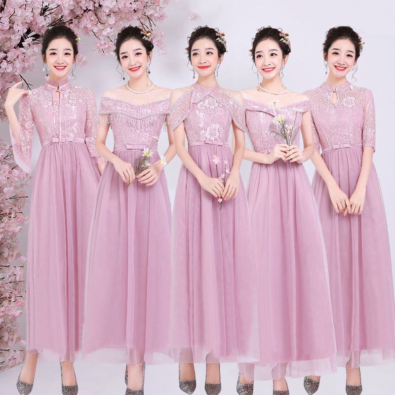 Pink Junior Bridesmaid Dress Plus Size Tulle Long Dress For Wedding Party For Woman Vestido De Festa Longo Sexy Dress Prom Host