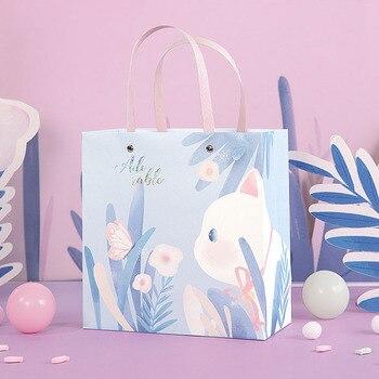 Bolsas de regalo con forma de gato para bebé, regalos para fiesta...
