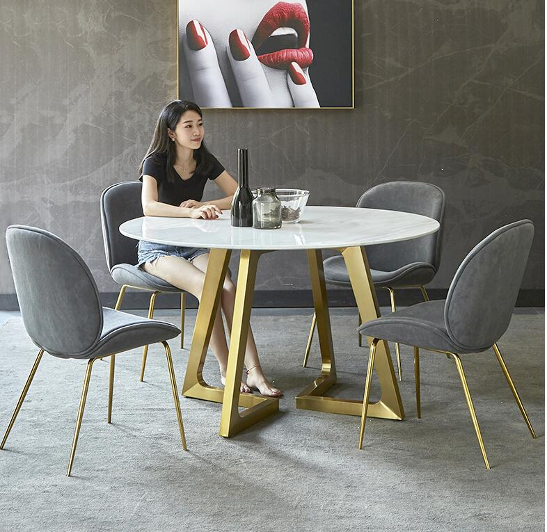 Nordic Negotiation Table And Chair Combination Modern Minimalist Marble Dining Table Round Coffee Table And Chairs Leisure Round